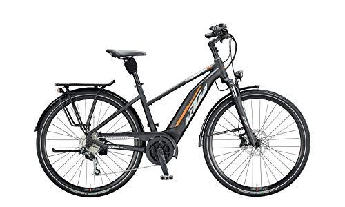 KTM Macina Fun 510 - Bicicleta eléctrica de trekking Bosch 2020 (28', 51 cm), color negro, gris y naranja