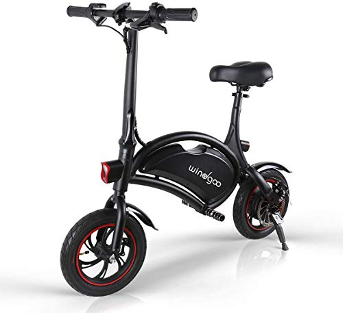 Windgoo Bicicleta Electrica Plegables, 350W Motor Bicicleta Plegable 25 km/h y 15 km, Bici Electricas Adulto con Ruedas de 12', Batería 36V 6.0Ah, Asiento Ajustable, sin Pedales