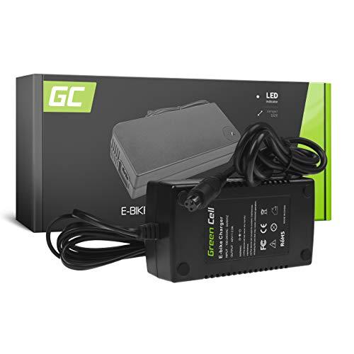 Green Cell Cargador (42V 2A 84W) para Whistler Xplorer Yamaha Zündapp E-Bike Bicicleta Eléctrica Li-Ion Batería (Conector 3 Pin)