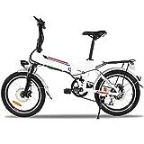 AIMADO Bicicletas Electricas de Montaña Plegable 18,7 Pulgadas