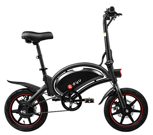 Bicicleta Eléctrica Plegable Dyu D3F, Ruedas 14', 20 Km/hy 40 Km de Kilometraje, Bicicleta Eléctrica con Pedales, 36V 10Ah