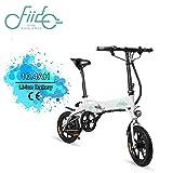 FIIDO D1 14 Pulgadas Bicicleta eléctrica Plegable, Bicicleta eléctrica de batería de Litio de 250W 7.8/10.4Ah con luz LED Frontal para Negro Adulto