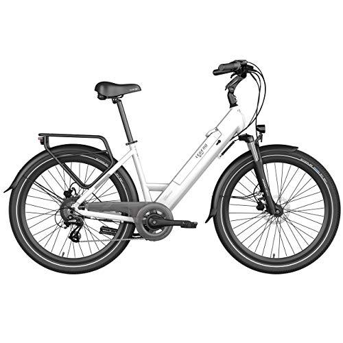 LEGEND EBIKES Milano 36V10.4Ah Bicicleta eléctrica, Unisex Adulto, Blanco Artic, Talla Única