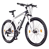 NCM Prague Bicicleta eléctrica de montaña, 250W, Batería 36V 13Ah 468Wh (Blanco 29')