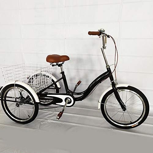 MINUS ONE Triciclo para Adultos Triciclo para Adultos de una Sola Velocidad Bicicleta de 3 Ruedas Bicicleta para Personas Mayores Bicicleta de Carga 20'