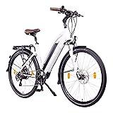 NCM Milano Plus Bicicleta eléctrica de Trekking, 250W, Batería 48V 16Ah • 768Wh (Blanco Plus 28')