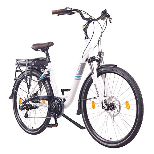NCM Munich Bicicleta eléctrica Urbana, Bici de Paseo, 250W, Batería 36V 13Ah 468Wh, (28' Blanco)