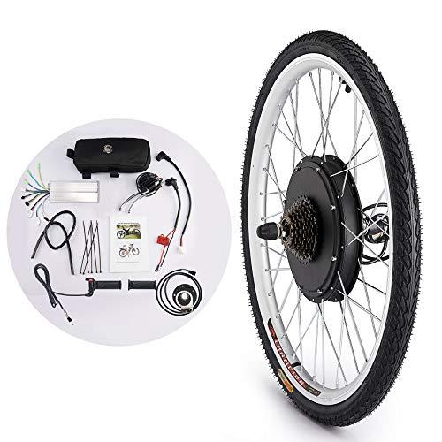 Sfeomi Kit de Conversión de Bicicleta Eléctrica 36V 500W Kit de Conversión de Bicicleta Electric Bike Conversion Kit con Controlador de Modo Dual (para Rueda Trasera)