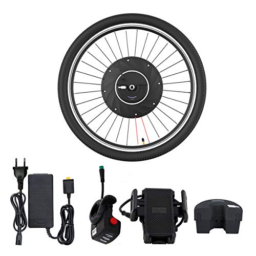 Fafrees Kit de conversión Ebike 36V Bicicleta eléctrica de montaña Kit de conversión de Rueda Delantera de 26 Pulgadas con Motor de buje de 240W Velocidad máxima 26KM / H