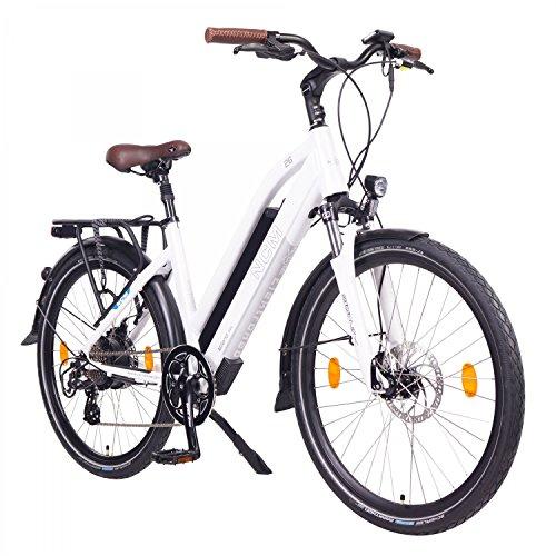 NCM Milano Bicicleta eléctrica de Trekking, 250W, Batería 48V 13Ah 624Wh (26' Blanco)