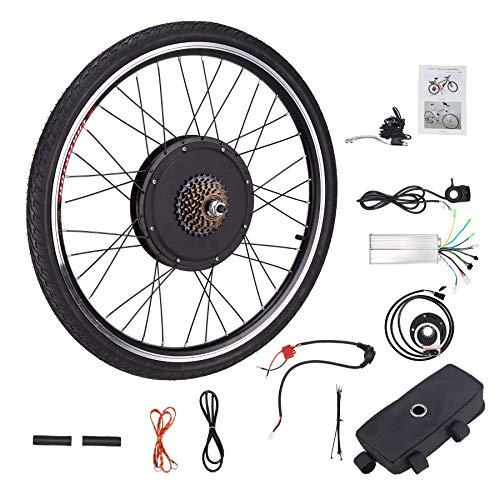 HIRAM Kit de Conversión de Bicicleta Eléctrica 48V 1000W 26'' Kit de Conversión de Bicicleta para Rueda Trasera DIY Electric Bike Conversion Kit con Controlador de Modo Dual