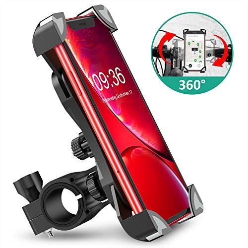 Cocoda Soporte Movil Bici, 360° Rotación Soporte Movil Moto Bicicleta, Anti Vibración Porta Telefono Motocicleta Compatible con iPhone 12 Pro Max/12 Mini/11 Pro MAX/XS/XR y Otro 4.5-7.0' Móvil