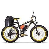 RICH BIT RT 022 Bicicleta de montaña eléctrica, 1000W hasta 40 mph 26 Pulgadas 26 Pulgadas Neumáticos e-Bike Grandes 21 velocidades Beach Cruiser Sport Mountain Bike Suspensión Completa