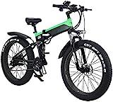 Bici electrica, Bicicletas for adultos plegable eléctricos, híbridos bicicletas reclinadas / carretera, con marco de aleación de aluminio, pantalla LCD, Modo de tres a caballo, 7 Velocidad 26 pulgadas