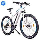 NCM Moscow Bicicleta eléctrica de montaña, 250W, Batería 48V 13Ah 624Wh (Blanco 29')