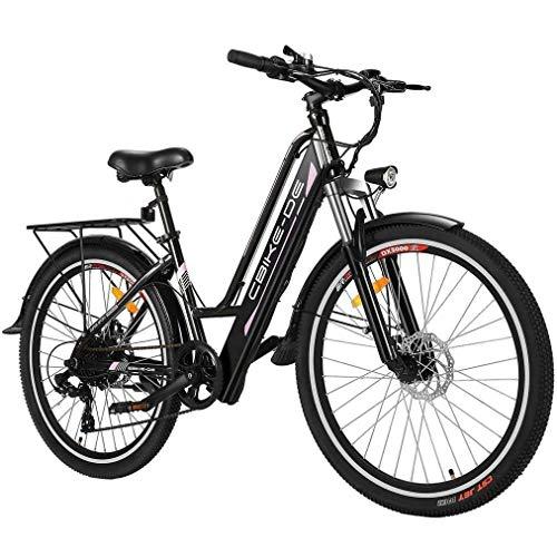 Vivi Bicicleta Eléctrica, Bicicleta Ciudad de 26 Pulgadas 250W, con 36V 8Ah Batería de Litio de, Doble Disco, 25-30 Millas de Alcance (Entrega en 5-7 días)