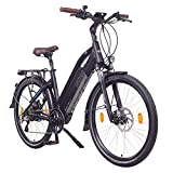 NCM Milano Plus Bicicleta eléctrica de Trekking, 250W, Batería 48V 16Ah • 768Wh (26' Negro Plus)