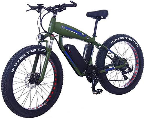 Bici electrica, 26inch Fat Tire Bicicleta eléctrica 48V 15Ah de nieve E-Bici 21/24/27/30 Velocidades de bicicletas crucero de la playa for hombre de montaña de las mujeres eléctricas con freno de disc