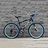 YXWJ 24/26 Pulgadas de Bicicletas de montaña for Adultos de Doble Freno de Disco Fat Tire Bike Mountain Trail 24 / 27speed Variable bicis de Carreras de Velocidad for Hombres y Mujeres