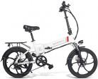 Ancheer SAMEBIKE Bicicleta Eléctrica Plegable, E Bike 20 Pulgadas blanca