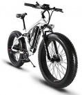 Extrbici XF800 1000W 48V 13AH Bicicleta eléctrica 26 ' blanco y negro