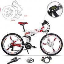 RICH BIT Bicicleta de Montaña Eléctrica, Unisex Adulto, Urbana EBIKE-26 roja