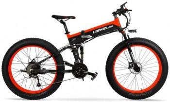 BNMZX Bicicleta eléctrica montaña Ancho neumático 26 Pulgadas Todo Terreno