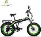 Rich bit RT-016 Bicicletas Eléctricas 20″ Plegables E-Bike 500W * 48V verde