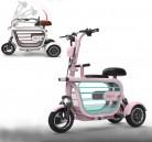 WLY Bicicleta eléctrica Plegable de Tres Ruedas para Adultos Mayores
