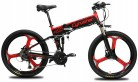 Extrbici Bicicleta de montaña MTB XF770 17 * 26″Bicicleta eléctrica Plegable Montaña 250 vatios roja