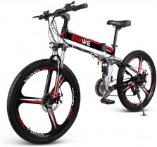 Lixada Plegable de 26 Pulgadas Bicicleta Eléctrica Asistente de Potencia