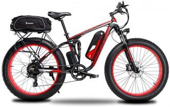 Extrbici Bicicleta eléctrica XF800 1000W 48V 13AH roja