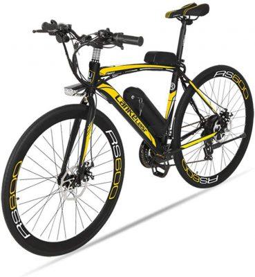 BNMZX Bicicleta eléctrica, Bicicleta de Carretera Masculina/Femenina