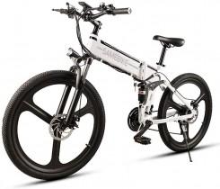 Lixada Bicicleta Eléctrica Plegable Motor 350W 48V con Rueda 26 Pulgadas E-Bike