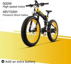LANKELEISI XT750 Plus 48V10AH 500W Motor Nueva Bicicleta eléctrica Potente
