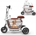 WLY Bicicleta eléctrica Plegable de Tres Ruedas para Adultos