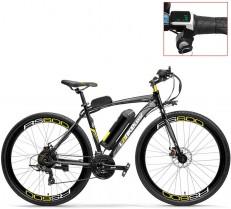LANKELEISI RS600 700C Asistente de Pedal Ebike, batería 36V 20Ah, Motor 300W