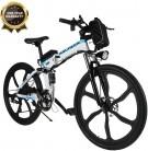 BIKFUN Bicicleta eléctrica, 20″/26″ Ebike para Adulto, Batería de Litio-Ion(36V, 8Ah), 250W