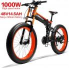LANKELEISI 750PLUS 48V14.5AH 1000W Motor Bicicleta eléctrica con Todas Las Funciones 26» roja