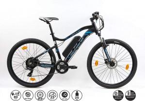 F.lli Schiano Braver Bicicleta eléctrica, Adultos Unisex, Negro-Azul, 27.5»