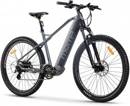 Moma Bikes Bicicleta de Montaña E-MTB 29″, Suspension simple, L-XL