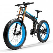 LANKELEISI T750Plus 27 velocidades 1000W Bicicleta Eléctrica Plegable 26 * 4.0 neumático