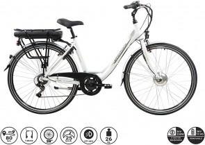 F.lli Schiano E- Moon Bicicleta eléctrica, Adultos Unisex, Blanca, 28″