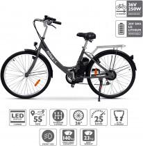 Nilox X5 Bicicleta Eléctrica, Unisex Adulto, Negro, Talla única