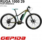 'GEPIDA Mountain Bike eléctrica 29 Ruga 1000 Active 19 Antracita/Amarillo