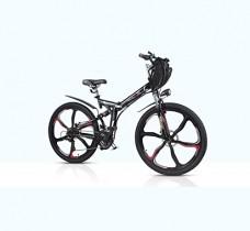 Bicicleta de montaña eléctrica plegable doble suspension