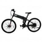 Bicicleta eléctrica plegable Mecer batería 36 V 10 Ah negro