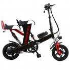 Bicicleta Eléctrica Plegable para Adultos 12 Pulgadas 48V Asiento Doble