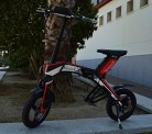 "Bicicleta scooter eléctrica 300W 14"" plegable"