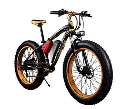Bicicletas eléctricas para hombre Cruiser amarilla